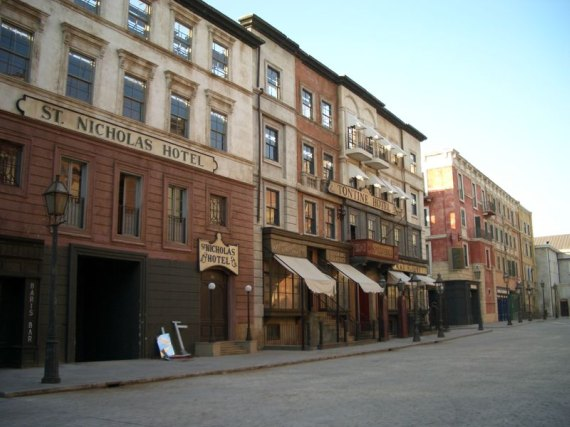 Il set di Gangs of New York a Cinecittà