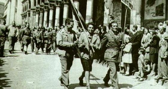 Festeggiamenti del 25 aprile 1945